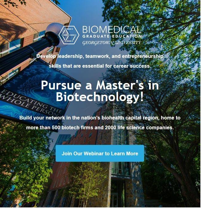 Masters In Biotechnology Program Georgetown University